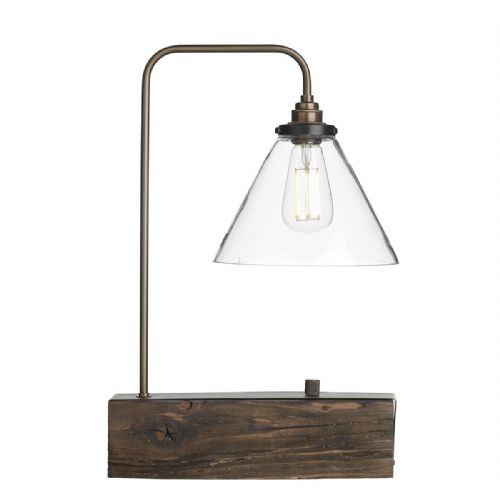 Aspen Table Lamp Wood Effect ASP4229 (7-10 day Delivery)